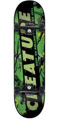 Creature Give 'em Hell Team Sk8 Complete Skateboard - 7.8 x 31.7 - Green/Black