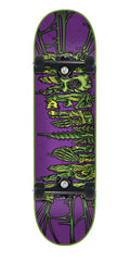 Creature Catacombs Regular Sk8 Complete Skateboard - 7.8in x 31.7in - Purple