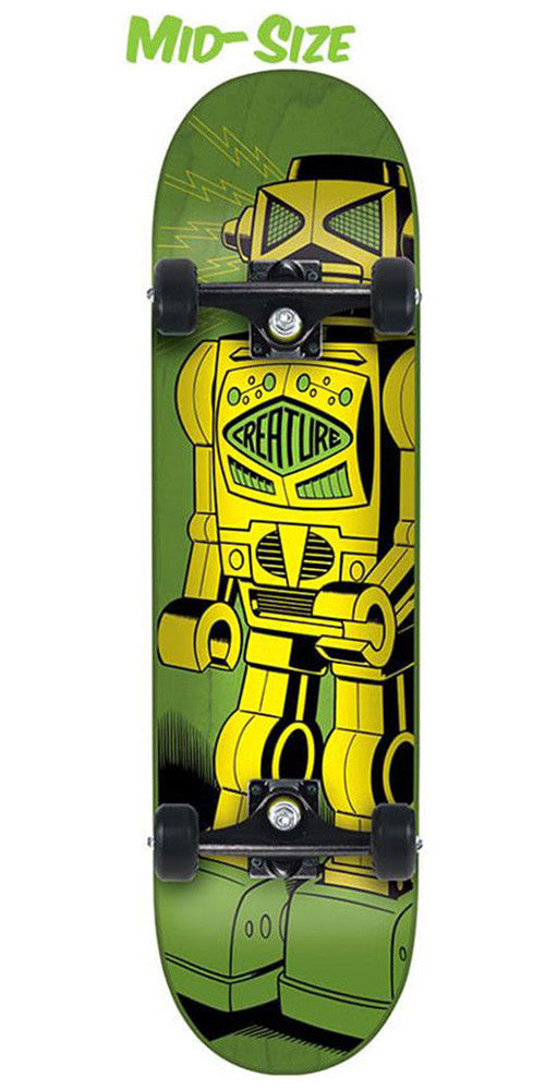 Creature Robot Mid Sk8 Complete Skateboard - 7.25in x 29.9in - Green