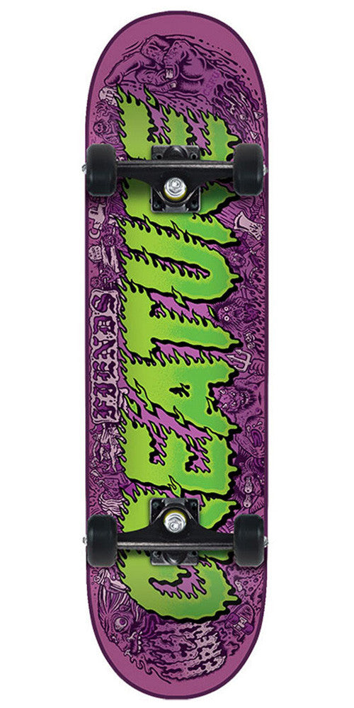 Creature Team Comics Micro Sk8 Complete Skateboard - Purple/Green - 6.75in x 28.5in