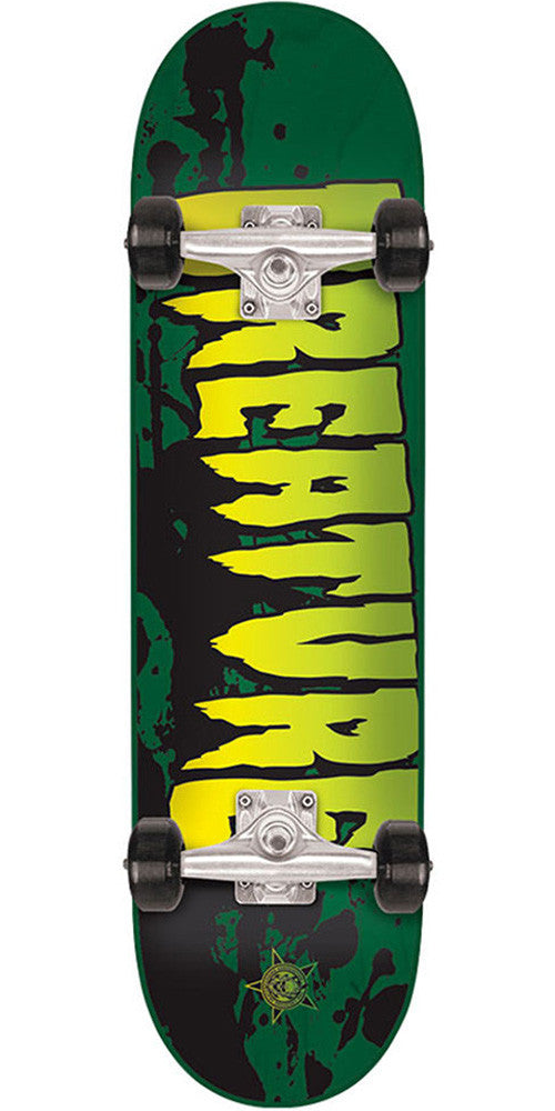 Creature Stained Mid Sk8 Complete Skateboard - Green - 7.25in x 29.9in