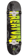 Creature Stained Regular Sk8 Complete Skateboard - Grey - 7.5in x 30.6in