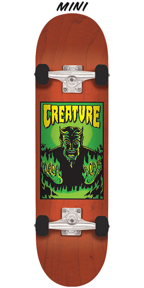 Creature Lil Devil Team Mini Sk8 Complete Skateboard - Orange - 7.0in x 29.2in
