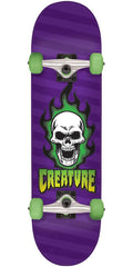 Creature Bonehead Sk8 Complete Skateboard - Purple - 8.25in x 31.8in
