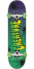 Creature Web Sk8 Complete Skateboard - Green/Purple - 7.5in x 30.6in