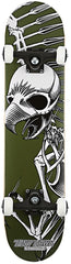 Birdhouse Hawk Full Skull Complete Skateboard - 7.75 - Green/Black/White