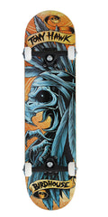 Birdhouse Tony Hawk Headdress Complete Skateboard - Orange/Blue - 7.75
