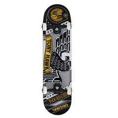Birdhouse Tony Hawk Stamped Complete Skateboard - Black/White - 8.0