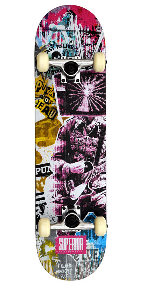 Superior Havoc Complete Skateboard - 8 - Pink/Yellow