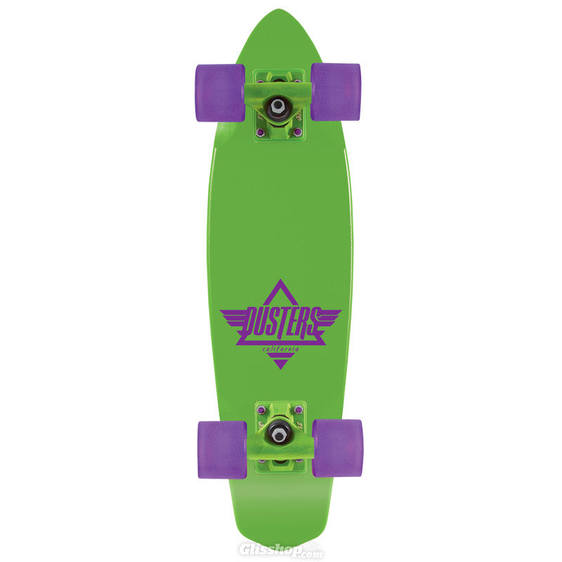 Dusters Ace Cruiser Complete Skateboard - 6.5 x 23.5 - Neon Green/Purple