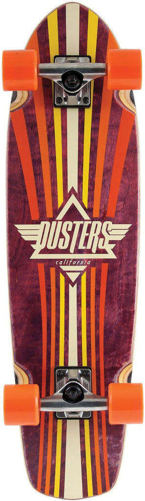 Dusters Keen Cruiser Complete Skateboard - 8 x 31 - Orange/Multi