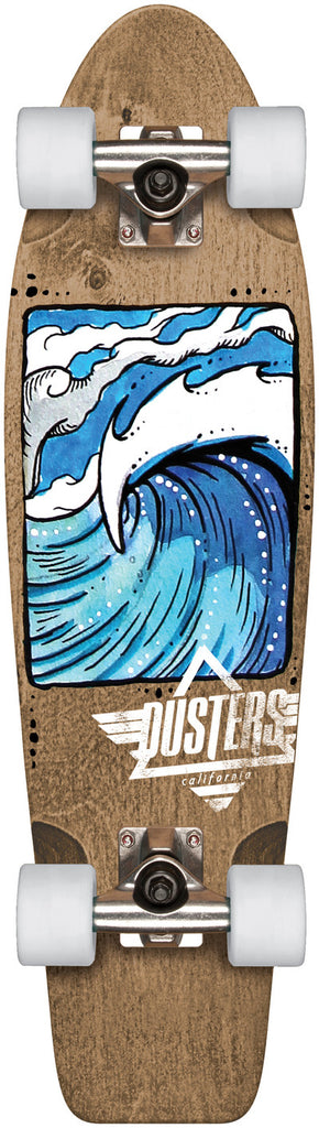 Dusters Nugg Swell Cruiser Complete Skateboard - 7.75 x 28 - Brown