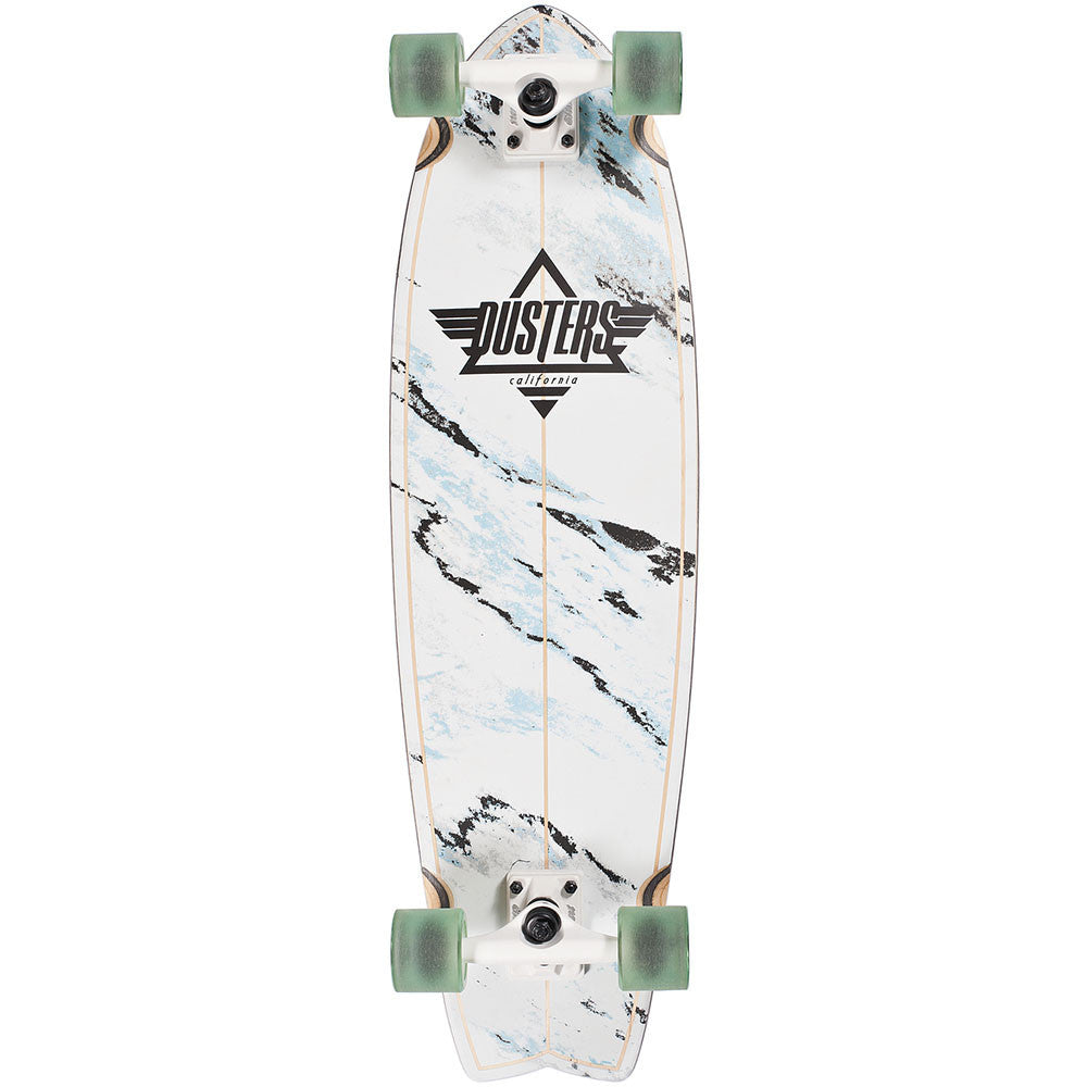 Dusters Kosher Cruiser Complete Skateboard - White  - 9.5n x 33in
