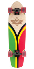 Dusters Flashback Cruiser Complete Skateboard - Rasta - 31in