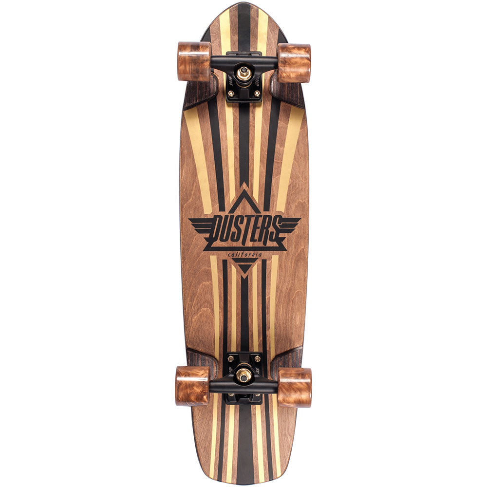 Dusters Keen V-Ply Cruiser Complete Skateboard - Gold - 31in