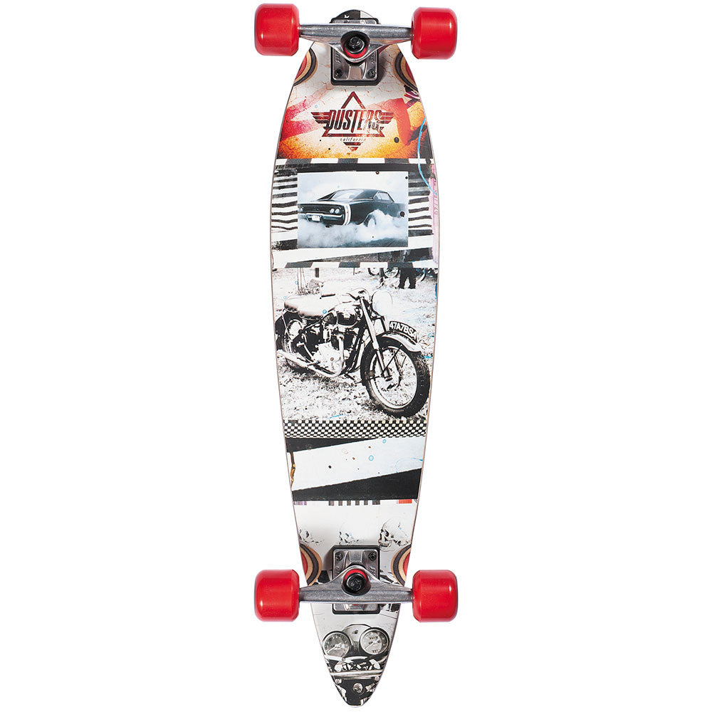 Dusters Go Longboard Complete Skateboard - Black/White - 34.0in