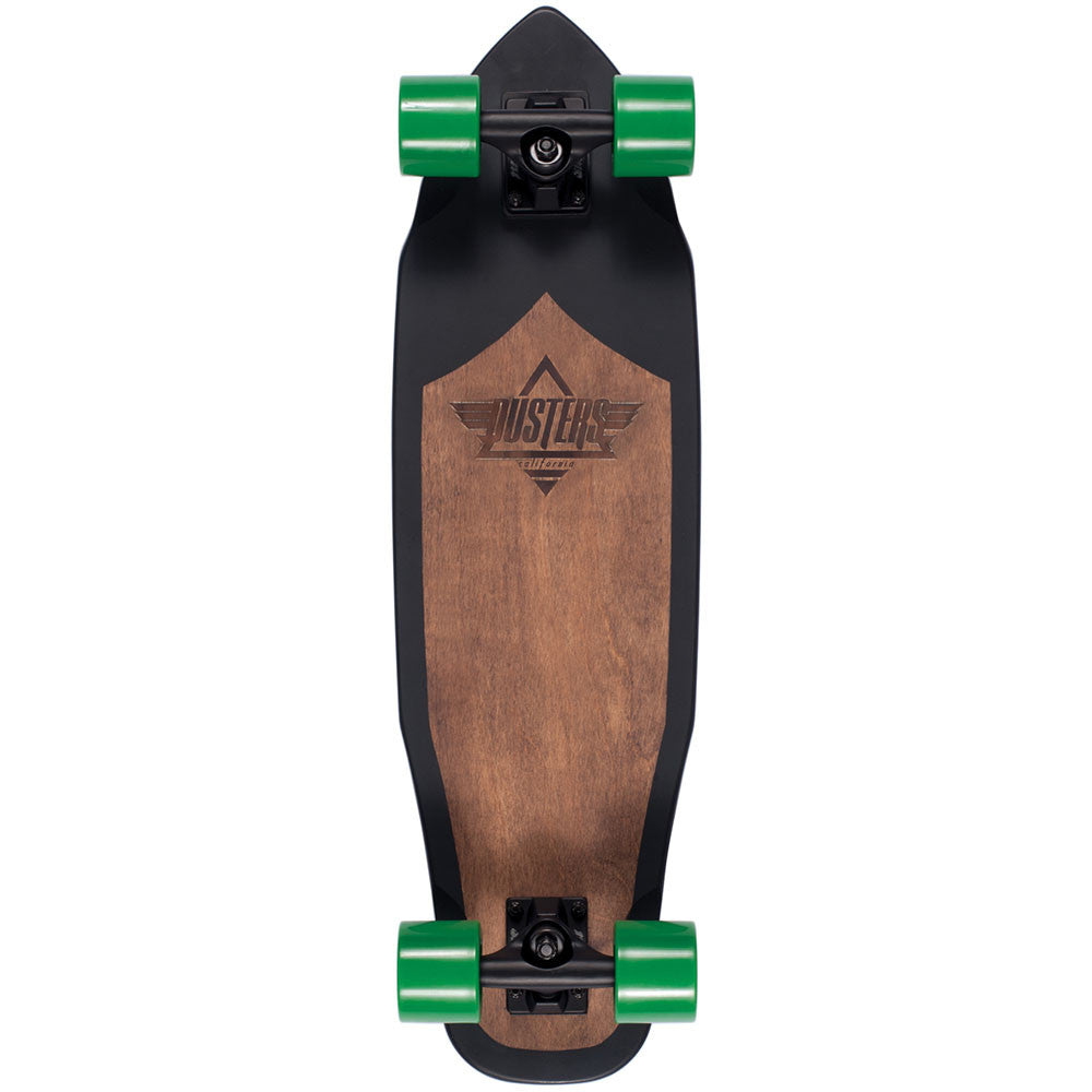 Dusters Gust Cruiser Complete Skateboard - Matte Black - 28.5in