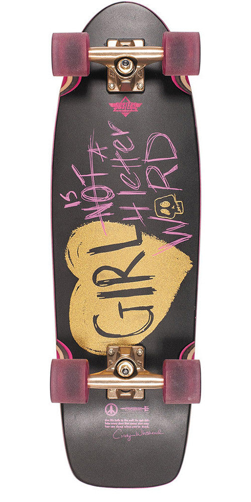 Dusters GN4LW Cruiser Complete Skateboard - Black - 28.5in
