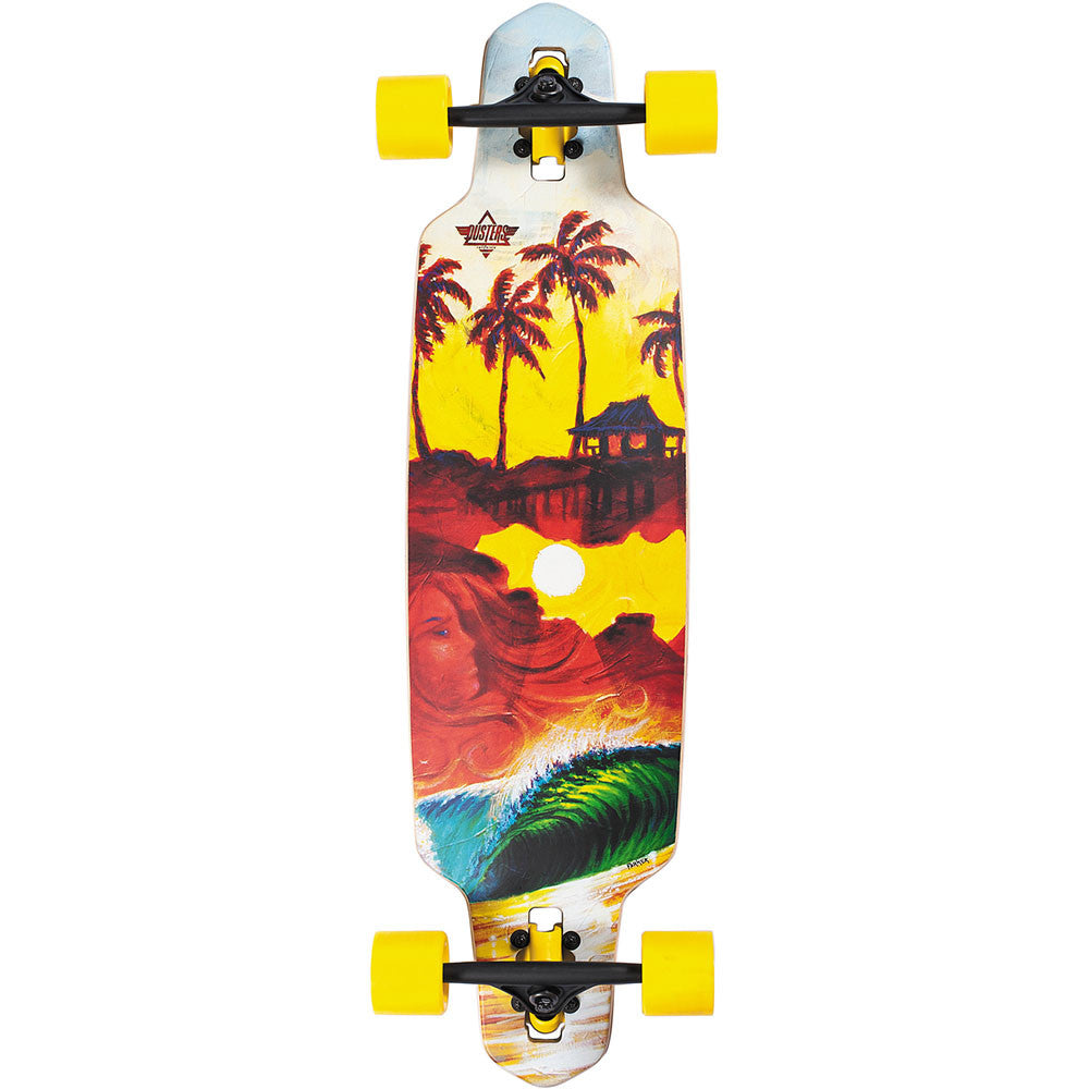 Dusters Shacked Longboard Complete Skateboard - Multi - 36.0in