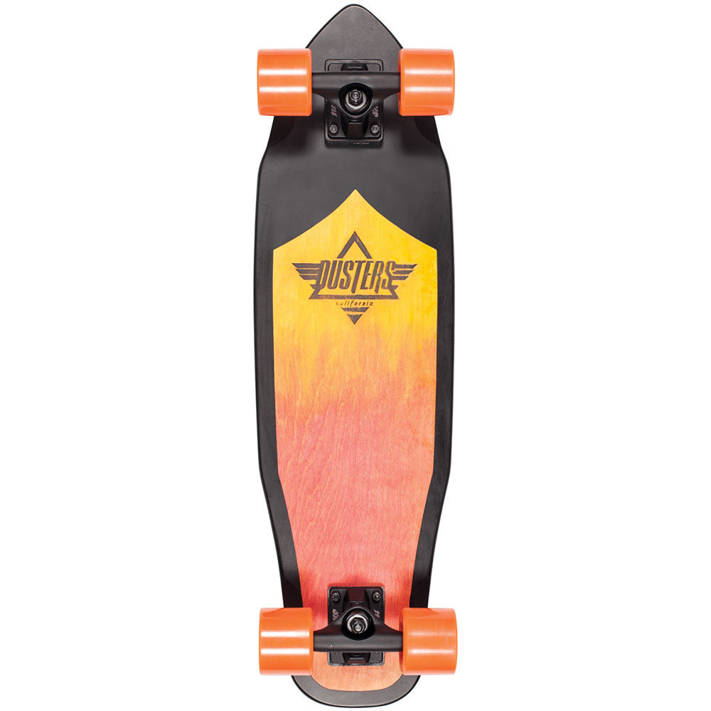 Dusters Gust Cruiser Complete Skateboard - Orange Fade/Black - 28.5in