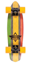 Dusters Ace Cruiser V-Ply Complete Skateboard - Rasta - 24in
