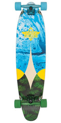 Dusters Bio Longboard Complete Skateboard - Blue/Yellow - 38.0in