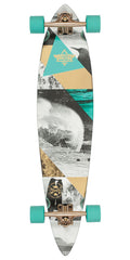 Dusters Curl Longboard Complete Skateboard - Teal/Gold - 39.0in