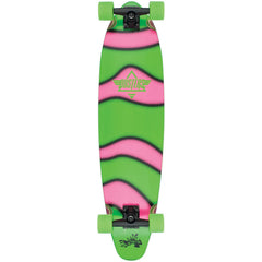Dusters Demo Glow In The Dark Longboard Complete Skateboard - Green/Pink - 38.0in