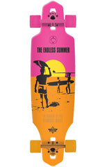 Dusters Endless Summer Wake Complete Skateboard - Yellow/Orange/Pink - 38.0in