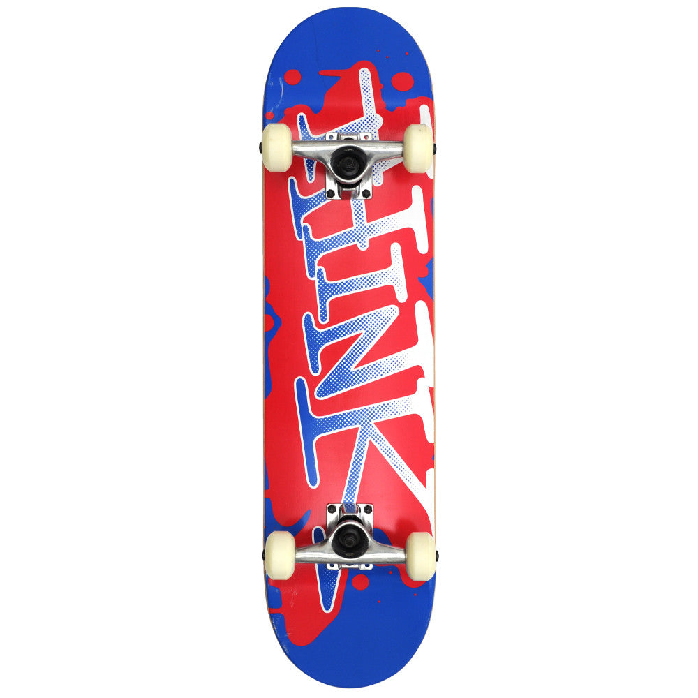 Think 'Spray Tag' Complete Skateboard - 7.8 - Blue/Red