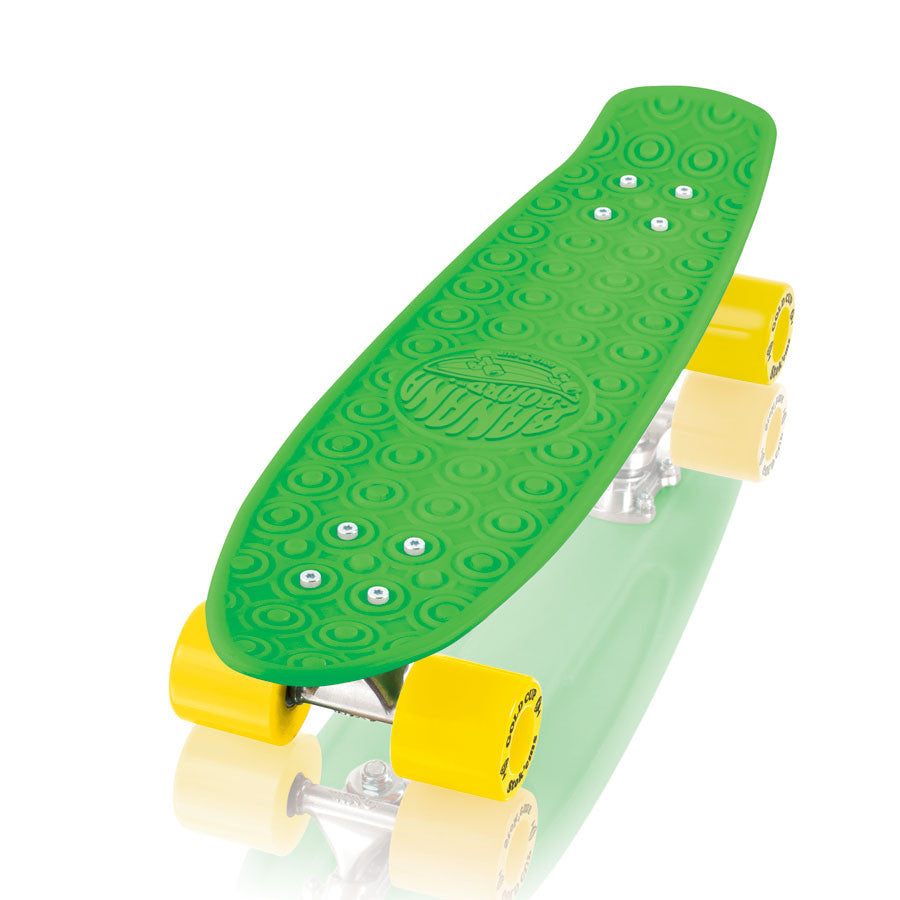 Gold Cup Banana Board Cruzer Complete Skateboard - 6 x 23.25 - Green/Yellow