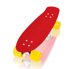 Gold Cup Banana Board Cruzer Complete Skateboard - 6 x 23.25 - Red/Yellow