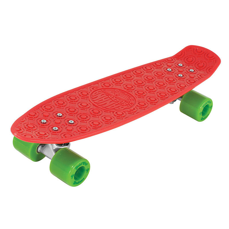 Gold Cup Banana Board Cruzer Complete Skateboard - 6 x 23.25 - Red/Green