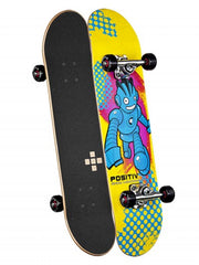 Positiv Andy Macdonald Monster Series Complete Skateboard - 7.625 - Yellow/Blue