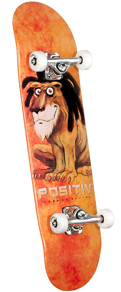 Positiv Santos Lion Complete Skateboard - 8.0 - Orange