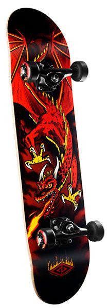 Powell Golden Dragon Complete Skateboard - 7.625 x 31.625 -  Flying  Dragon Red