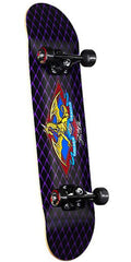 Powell Logo Dragon Complete Skateboard - 7.625 - Black/Purple