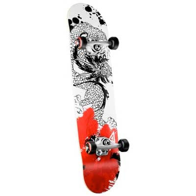 Powell Samurai Complete Skateboard - 7.75 - Red/White