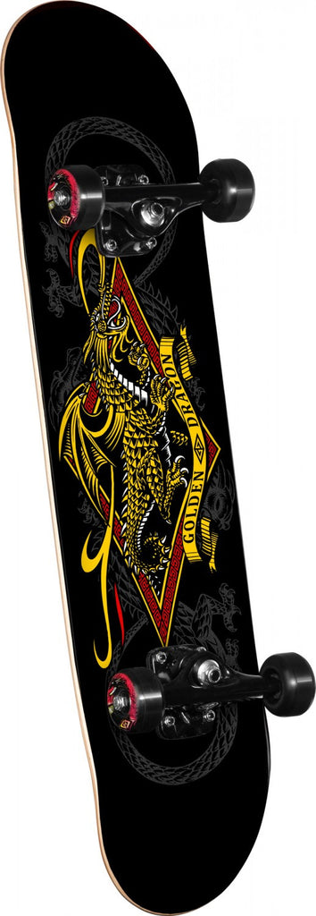 Powell-Peralta Diamond Dragon 3 - Black/Yellow - 7.5in x 31.375in - Complete Skateboard