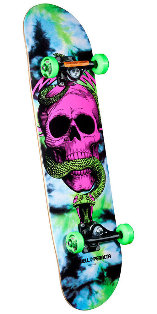 Powell Peralta Skull and Snake Complete Skateboard - Tie Dye - 8.0in x 32.125in