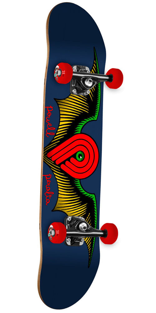 Powell Peralta Winged P Complete Skateboard - Blue - 8.0in x 32.125in
