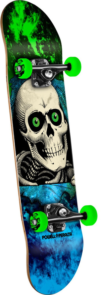 Powell Peralta Ripper Storm Complete Skateboard - Green/Blue - 7.0in x 28.0in