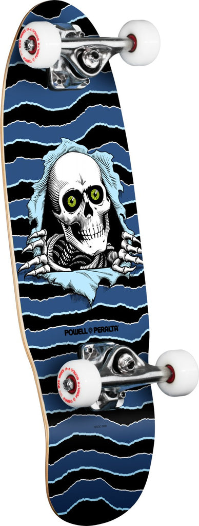 Powell Peralta Micro Ripper Complete Skateboard - Blue/Black - 7.5in x 24.0in