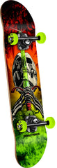 Powell Peralta Skull & Sword Storm Complete Skateboard - Red/Lime - 7.5in x 31.375in