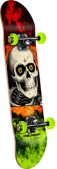 Powell Peralta Ripper Storm Complete Skateboard - Red/Lime - 8.0in x 32.125in