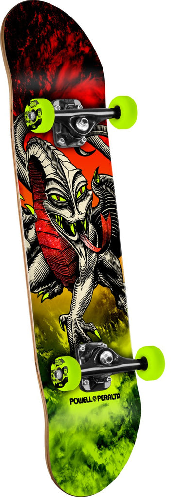 Powell Peralta Cab Dragon Storm Complete Skateboard - Red/Lime - 7.75in x 31.75in