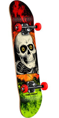 Powell Peralta Ripper Storm Complete Skateboard - Red/Lime - 7.5in x 28.65in