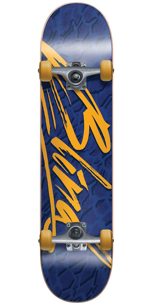 Blind Flight Youth Complete Skateboard - Blue/Gold - 7.0in