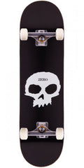 Zero OG Single Skull Complete Skateboard - Black/White/Grey - 8.125in