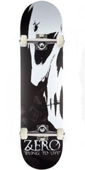 Zero Dying To Live Complete Skateboard - Black/White - 7.75in